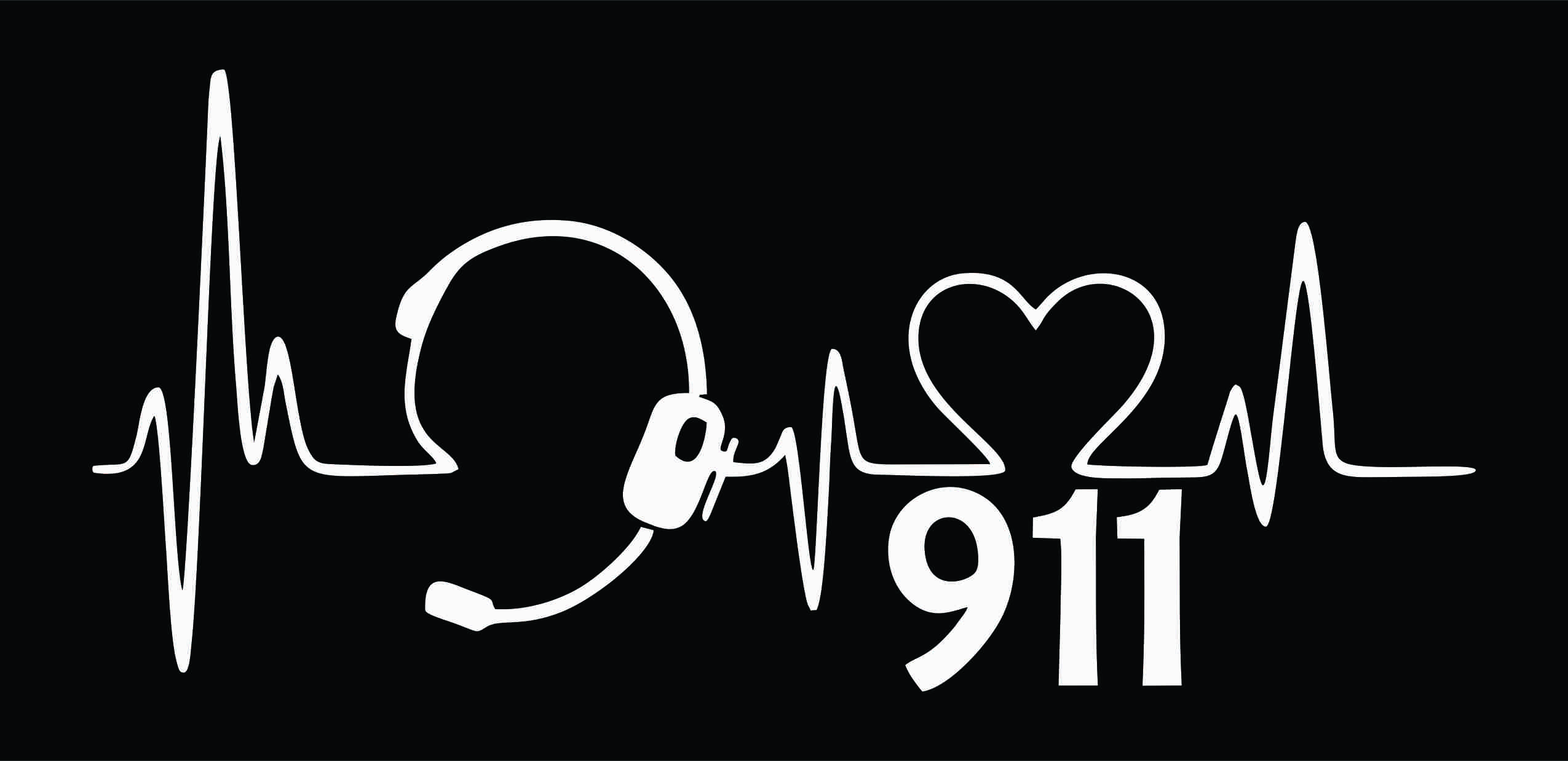 Heartbeat 911 Dispatcher Personalized Printed Backpack